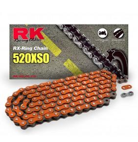 Cadena Retenes RK Naranja 520XSO 118 Pasos X Ring