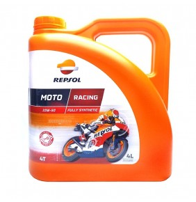 Aceite Repsol Moto Racing Sintético 4T 10W-50 4L