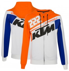 Sudadera KTM Tony Cairoli 222 White / Blue / Orange 2020