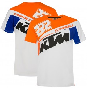 Camiseta KTM Tony Cairoli 222 White / Blue / Orange 2020