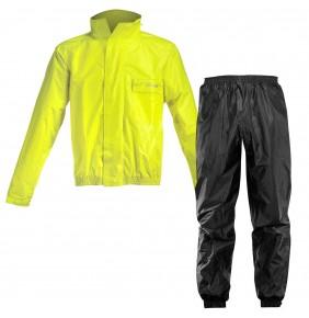 Traje de Lluvia Acerbis Rain Suit Logo Black / Yellow Fluo
