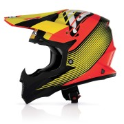 Casco Acerbis Impact Wishmaster Black / Yellow / Orange Fluo
