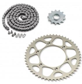 Kit Transmisión KTM SX (Piñon 13 - Corona 50 - Cadena 118 Eslabones Sin Retenes)