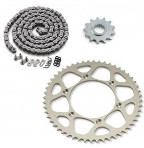 Kit Transmisión KTM EXC (Piñon 13 - Corona 52 - Cadena 118 Con Retenes)