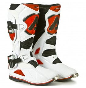 Botas Acerbis Impact X-Tight White Red