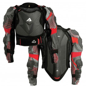 Peto Integral Acerbis Scudo CE 2.0 Grey / Red