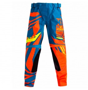 Pantalón Niño Acerbis Fitcross Mx Blue Orange