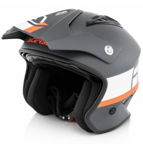 Casco Acerbis Jet Aria Grey / White / Orange