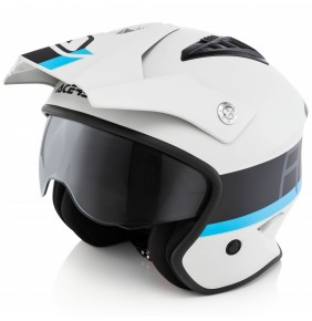 Casco Acerbis Jet Aria Grey / Black / Blue