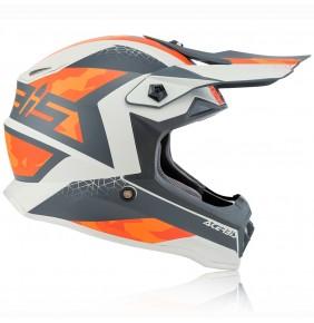 Casco Niño Acerbis Impact Steel Grey / Orange