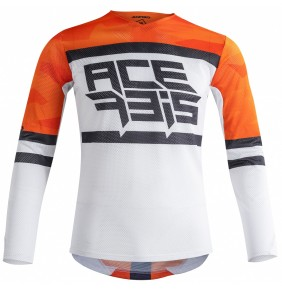 Camiseta Acerbis MX Helios Vented Orange / White 2020