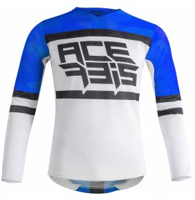 Camiseta Acerbis MX Helios Vented Blue / White 2020