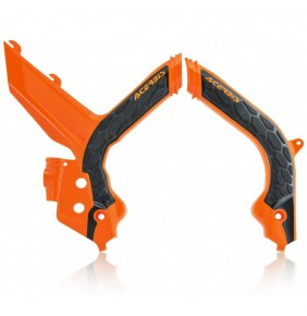 Protectores de Chasis Acerbis X-Grip KTM EXC/EXC-F 2020 Naranjas / Negros