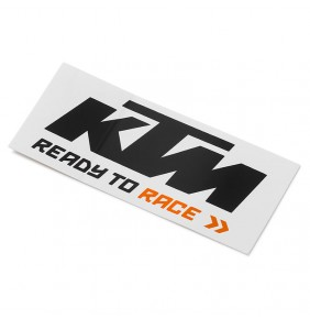 Adhesivo KTM Logo Sticker Black / White