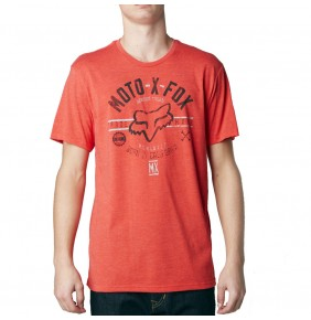 Camiseta Fox Clockspeed Heather Blood Orange