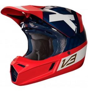 Casco Fox V3 Preest Navy / Red 2018