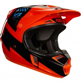Casco Niño FOX V1 Mastar Orange