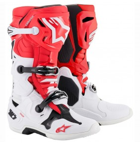 Botas Alpinestars Tech 10 Red / White / Black 2020