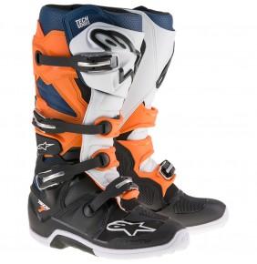 Botas Alpinestars Tech 7 Black Orange White Blue