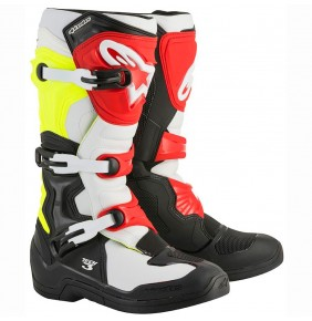 Botas Alpinestars Tech 3 Black / White / Yellow Fluo / Red