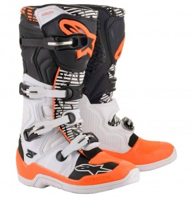Botas Alpinestars Tech 5 White / Black / Orange Fluo