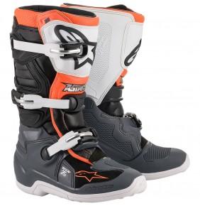 Botas Niño Alpinestars Tech 7S Black / Gray / White / Orange Fluo