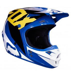 Casco Niño FOX V1 Race Blue