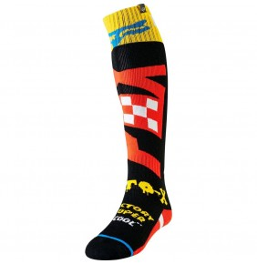 Calcetines FOX Fri Thin Sock Czar Black / Yellow