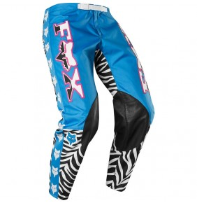 Pantalón FOX Retro Zebra Cyan Limited Edition 2020