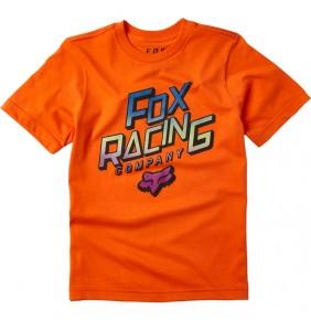 Camiseta Niño Fox Youth Cruiser Tee Orange Flame