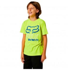 Camiseta Niño Fox Youth Hightail Fluo Yellow