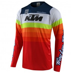 Camiseta KTM Troy Lee Designs SE PRO Mirage White / Red 2020