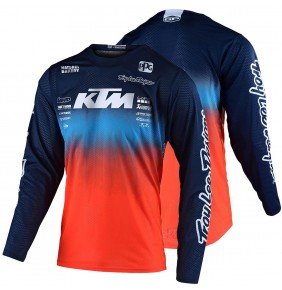 Camiseta KTM Troy Lee Designs GP Air Stain´d Team Navy / Orange 2020