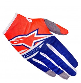 Guantes Niño Alpinestars Radar Flight Orange Fluo Dark Blue White