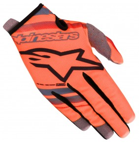 Guantes Niño Alpinestars Radar Orange Fluo / Black
