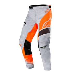 Pantalón Alpinestars Racer Supermatic Light Gray / Orange Fluo / Black 2019