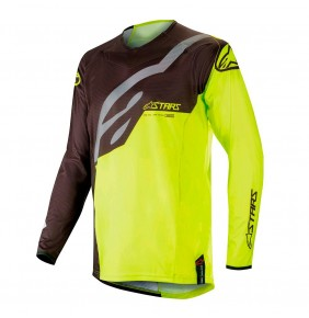 Camiseta Alpinestars Techstar Factory Black / Yellow Fluo 2019