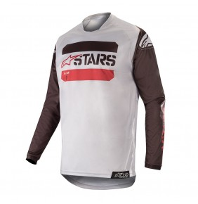 Camiseta Alpinestars Racer Tactical Black / Gray / Burgundy 2019