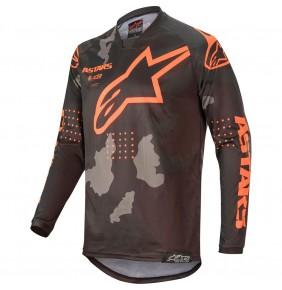 Camiseta Alpinestars Racer Tactical Black / Grey Camo / Orange Fluo