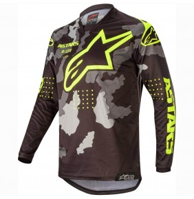Camiseta Alpinestars Racer Tactical Black / Grey Camo / Yellow Fluo