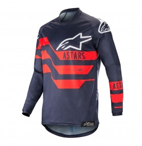Camiseta Alpinestars Racer Flagship Dark Navy / Blue / Red 2019