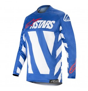 Camiseta Alpinestars Racer Braap Blue / White / Red 2019