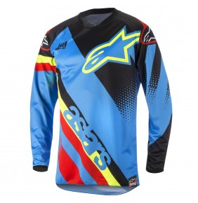 Camiseta Alpinestars Racer Supermatic Aqua Black Red 2018