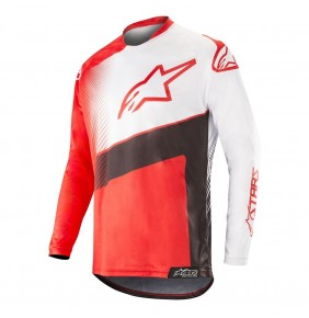 Camiseta Alpinestars Racer Supermatic Red / Black / White 2019