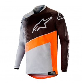 Camiseta Alpinestars Racer Supermatic Gray / Orange Fluo / Black 2019