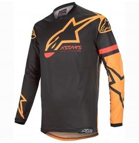 Camiseta Alpinestars Racer Tech Compass Black / Orange
