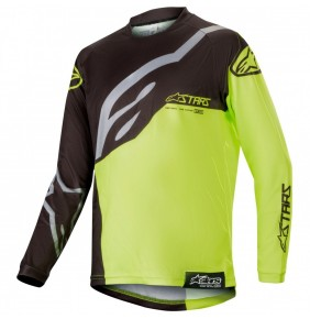 Camiseta Niño Alpinestars Racer Factory Black / Yellow Fluo