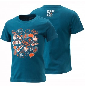 Camiseta de niño KTM Radical Tee Blue 2021