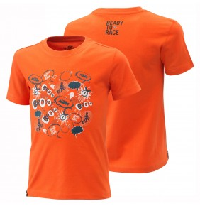 Camiseta de niño KTM Radical Tee Orange 2021