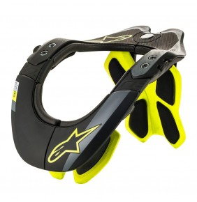 Collarin Alpinestars BNS TECH-2 Black / Yellow Fluo